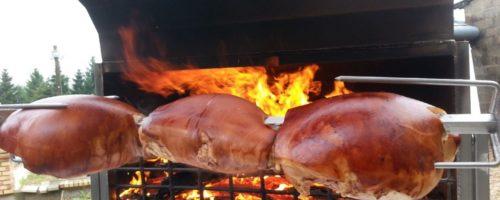 Jambon de porc à la broche